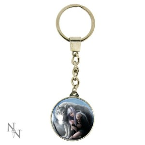 Protector Keyring shows a girl and wolf
