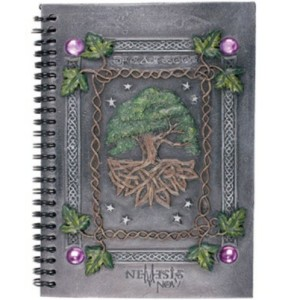 Dream Book shows a tree of life and Celtic knots