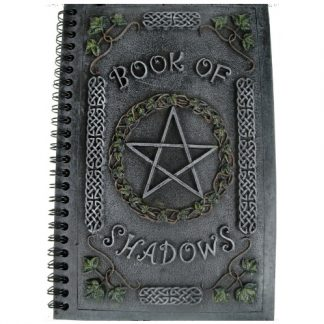 Ivy Book of Shadows has a pentagram surrounded by ivy and celtic knots
