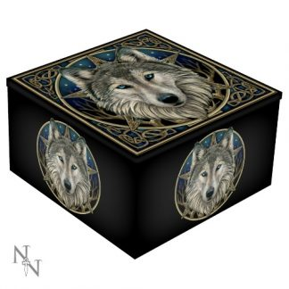 Wild One Mirror Box shows a wolf with a pentagram shape behind him