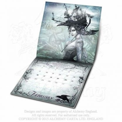 Alchemy Gothic 2016 Calendar The Raven and The Rose February