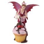 Pink Cupcake Fairy Figurine