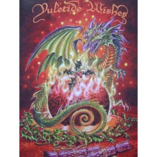 Flaming Dragon Pudding Card