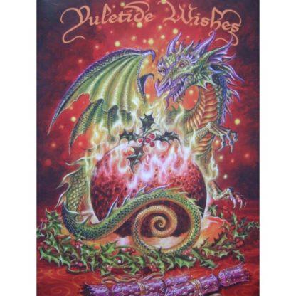 Flaming Dragon Pudding Card