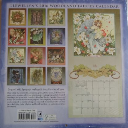 Linda Ravenscroft 2016 Woodland Faeries Calendar back cover