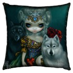 Loup Garou La Grand Pretresse Cushion
