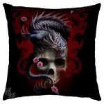 Eastern Dragon Skull Cushion