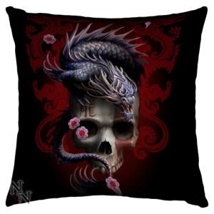 Eastern Dragon Skull Cushion