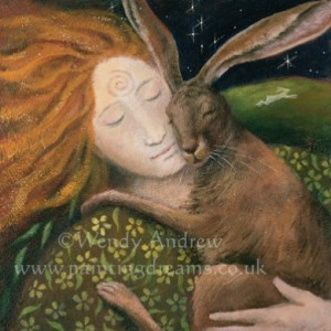 Hare Huggle Card