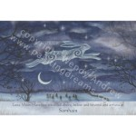 Luna Moon Hare at Samhain Card
