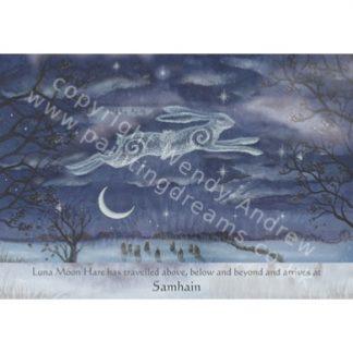 Luna Moon Hare at Samhain Card
