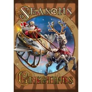 Steampunk Santa Card
