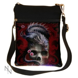 Eastern Dragon Skull Shoulder Bag