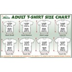 The Mountain Adult T Shirt Size Guide