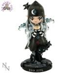 Black Stars Goth Fairy Figurine