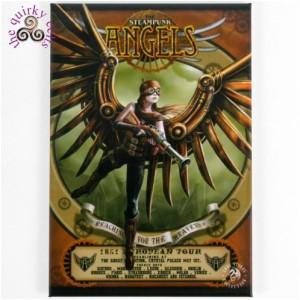 Steampunk Angel Fridge Magnet