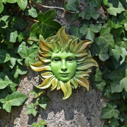Solstice Green Woman Plaque outside