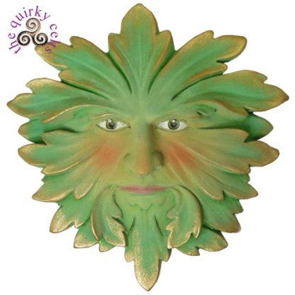 Green Fustian Green Man Plaque