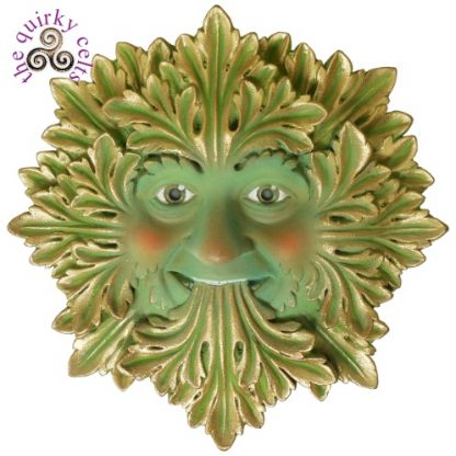 Green Foliate Green Man Plaque