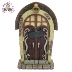 Fairy Door with Welcome Sign and Bell