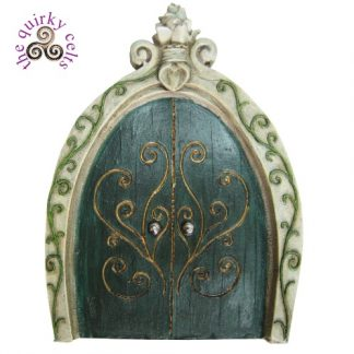 Fairy Door in Green and Gold