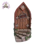 Fairy Door with Steps and Brown Door