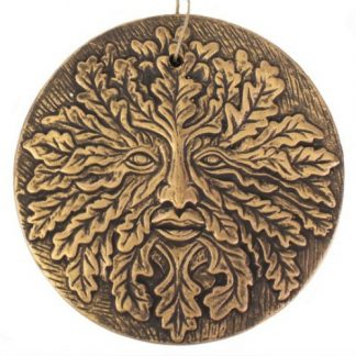 Bronze Terracotta Green Man Plaque