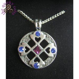 Celtic Cross Heart Pendant