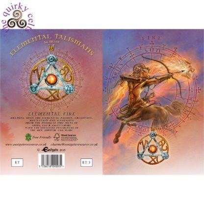 Elemental Fire Talisman card cover