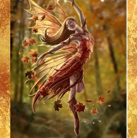 A beautiful fairy dancing amongst the leaves for Pagan and Alternative celebrations in Autumn and Winter 2016