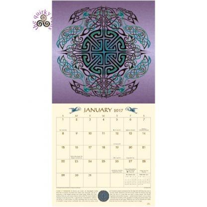 Celtic Mandala 2017 Calendar January