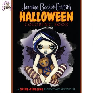 Jasmine Becket-Griffith Halloween Coloring Book front cover