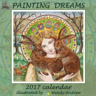 This image is of the front cover of the Painting Dreams 2017 Calendar