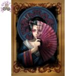 Geisha Skull Card
