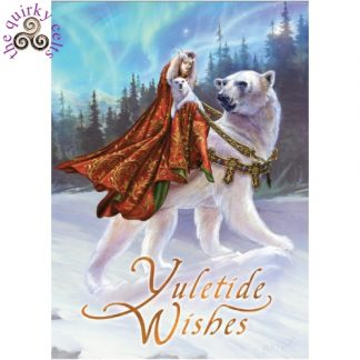 Queen of the Aurora Bears Yule Card