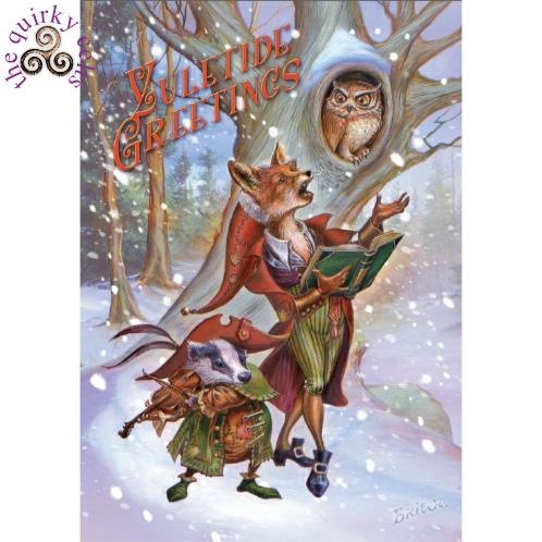 Wildwood carols yule card briar yule greetings card pagan card wildwood carols yule card m4hsunfo