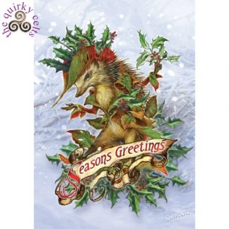 Mr Hedgely's Yuletide Coat Yule Card