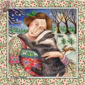 Starry Badger Hug Card