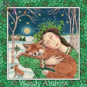 Starry Fox Hug Card