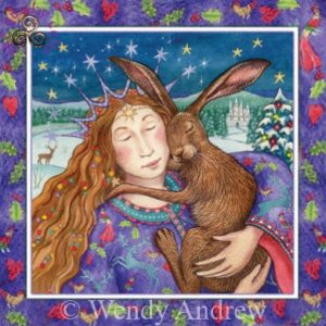 Starry Hare Hug Card