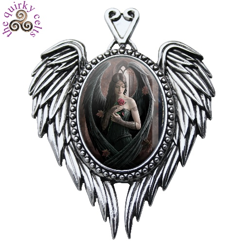 Angel Rose Cameo Pendant