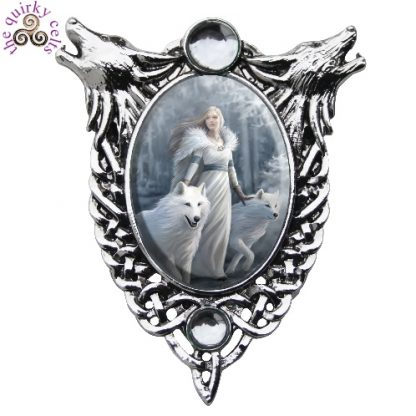 Winter Guardians Cameo Pendant