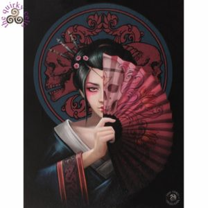 Geisha Skull Canvas Picture
