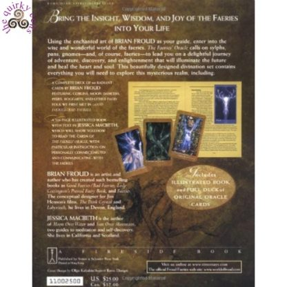 The Faeries' Oracle by Brian Froud back cover
