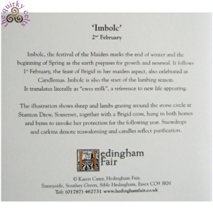 Imbolc Card information about Imbolc
