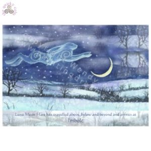 Luna Moon Hare at Imbolc Card