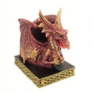 Vermillion Dragon Pen Holder