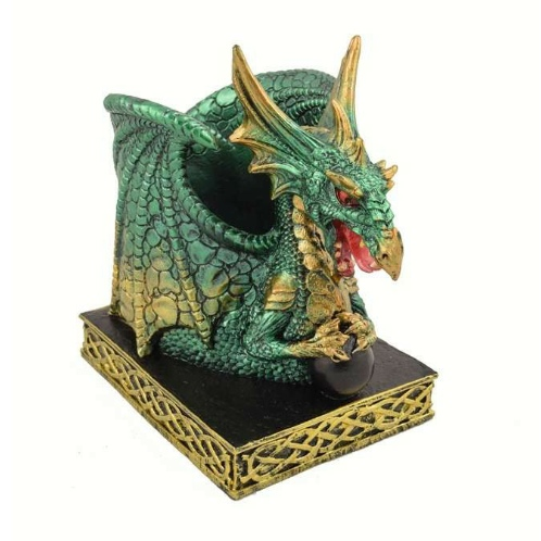 Emerald Dragon Pen Holder
