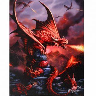 Fire Dragon Canvas Picture