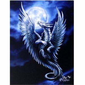 Silver Dragon Canvas Picture